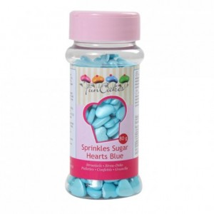 FunCakes Sugar Hearts Blue 80g