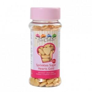Coeurs en sucre FunCakes or 80 g