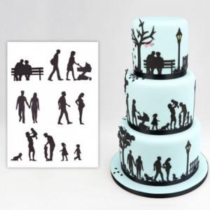 Découpoirs Patchwork silhouette famille
