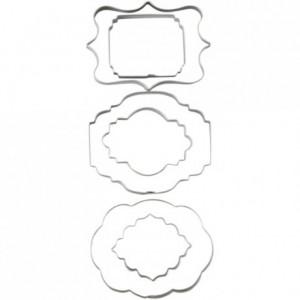 Découpoirs Wilton double face plaque 6 pièces