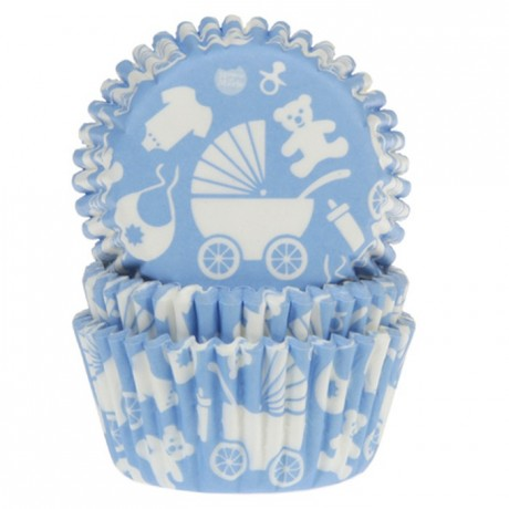 Caissette en papier House of Marie bleu bébé (lot de 50)