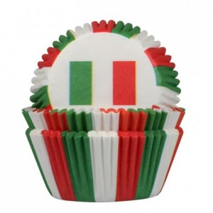 Caissette en papier House of Marie drapeau Italie (lot de 50)