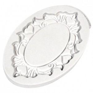Moule Katy plaque décorative ovale cœurs