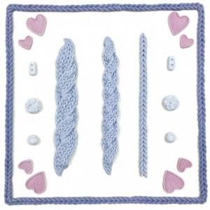 Moule silicone Karen Davies tresse de tricot