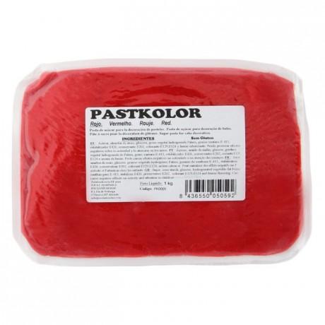 Pâte à sucre PastKolor rouge 1 kg