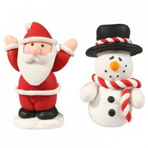 Décoration en pâte à modeler Culpitt Santa & Snowman