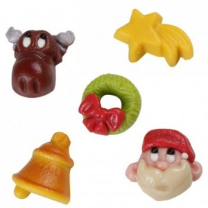 Assortiment de Noël Jingle Bells en pâte d'amande FunCakes 5 pièces
