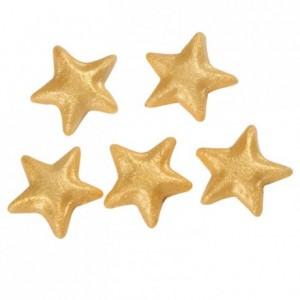 Etoiles en pâte d'amande FunCakes or 18 pièces