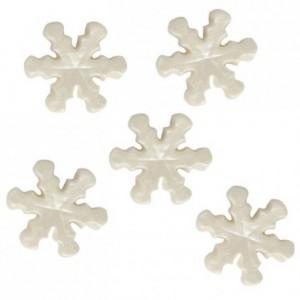 Flocons de neige en sucre FunCakes blanc perlé 14 pièces