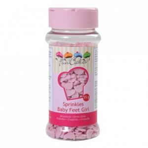 Pieds de bébé fille en sucre FunCakes 55 g