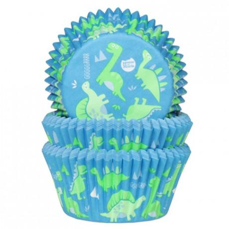 Caissettes à cupcakes House of Marie dinosaure 50 pièces