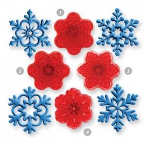 Découpoirs JEM flocons de neige 4 pièces