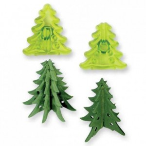 JEM Small 3D Christmas Trees Cutter set/2