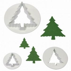 Découpoirs PME sapins de Noël 3 pièces