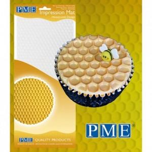 Tapis relief à pâte à sucre PME nid d'abeille