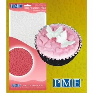 Tapis relief à pâte à sucre PME petits cœurs