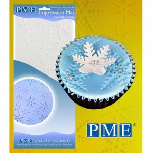 Tapis relief à pâte à sucre PME flocons de neige