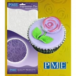 Tapis relief à pâte à sucre PME rose fantaisiste