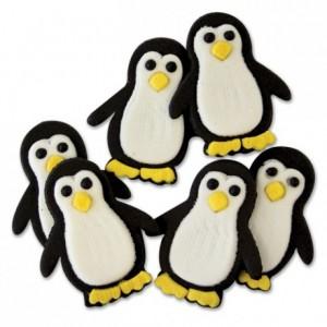 Décoration en sucre PME pingouins 6 pièces