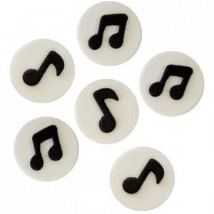 Décoration en sucre PME notes de musique 6 pièces