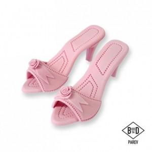 Décoration en sucre PME chaussures à talons rose 2 pièces