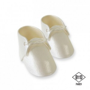 Décoration en sucre PME chaussures de bébé perlé 2 pièces