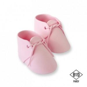 Décoration en sucre PME chaussures de bébé rose 2 pièces