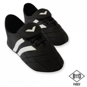 Décoration en sucre PME chaussures de sport noire 2 pièces