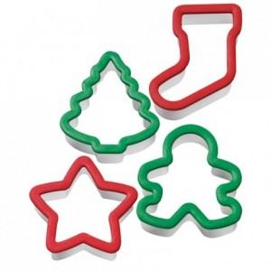 Découpoirs Wilton esprit de Noël 4 pièces
