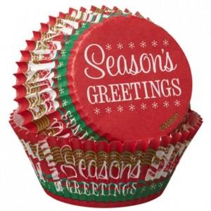Caissettes Wilton Seasons Greetings 75 pièces