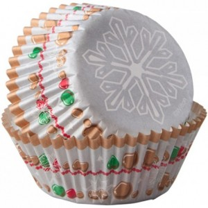 Caissettes mini Wilton Snowflake Wishes 75 pièces