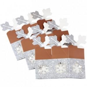 Boîte à biscuits Wilton flocons de neige hexagonals 3 pièces