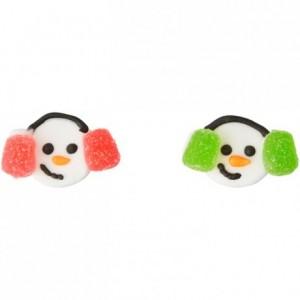 Décorations en sucre bonhomme de neige avec cache oreille Wilton 12 pièces