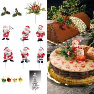Christmas log decorations (11 pcs)