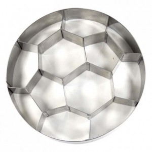Ballon de foot inox Ø260 x 45 mm