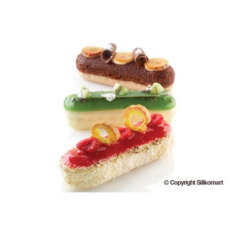 Eclair silicone mould 129 x 40 x 35 mm