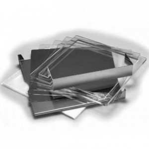 Valrhona ganache frame plexi 40 x 40 x 0,6 cm