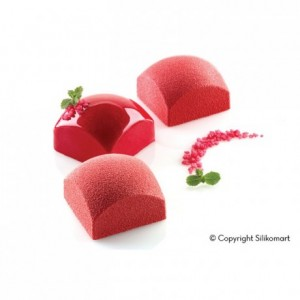 Square Sphere110 silicone mould 60 x 60 x 39 mm