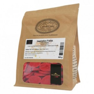 Strawberry Inspiration fruit couverture beans 500 g