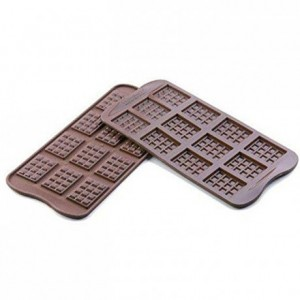 Moule silicone pour chocolat tablette 38 x 28 x 4,5 mm