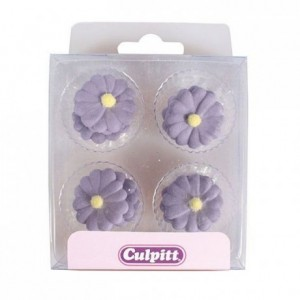 Culpitt Sugar Decorations Daisy Purple pk/12