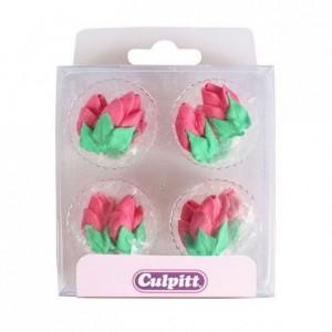 Décoration en sucre Culpitt boutons de roses 12 pièces