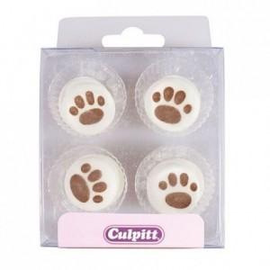 Décoration en sucre Culpitt traces de pattes 12 pièces