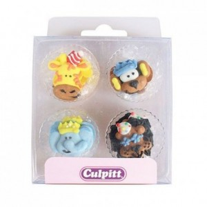 Culpitt Sugar Decorations Party Animals pk/12