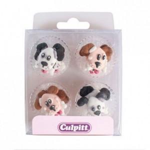 Décoration en sucre Culpitt chiens 12 pièces