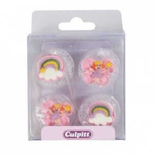 Culpitt Sugar Decorations Fairy & Rainbow pk/12
