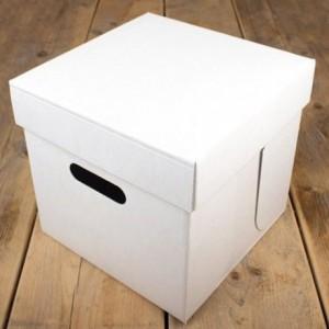 FunCakes Cake Box -Blanco 25.5x25.5x25cm