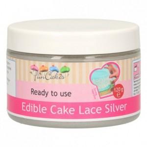 FunCakes Edible Cake Lace -Silver- 120g