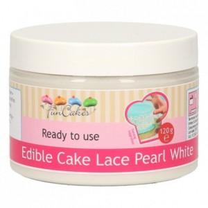 FunCakes Edible Cake Lace -Pearl White- 120g