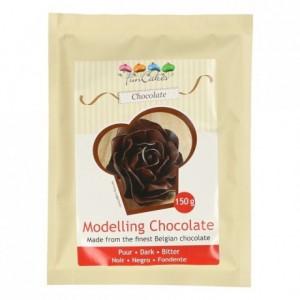Chocolat plastique FunCakes chocolat noir 150 g